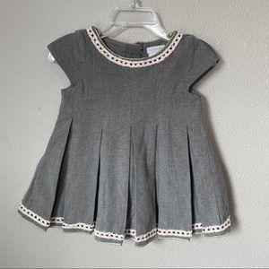 Tahari Pleated A-Line Dress Grey | 18 M